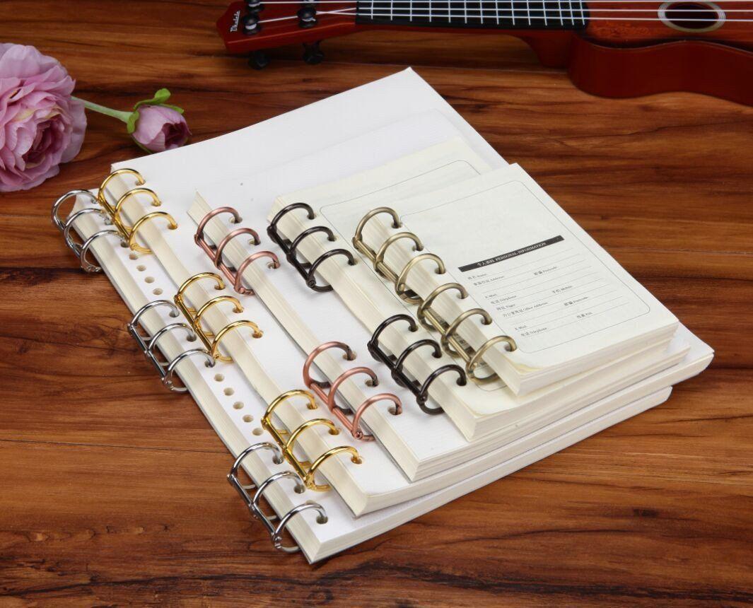 Chriswang 10pcs metal 3ring binding spines