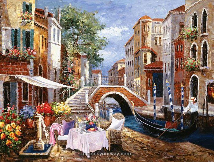 Wall Mural within Italian Venetian Theme Best Italian Wall Murals