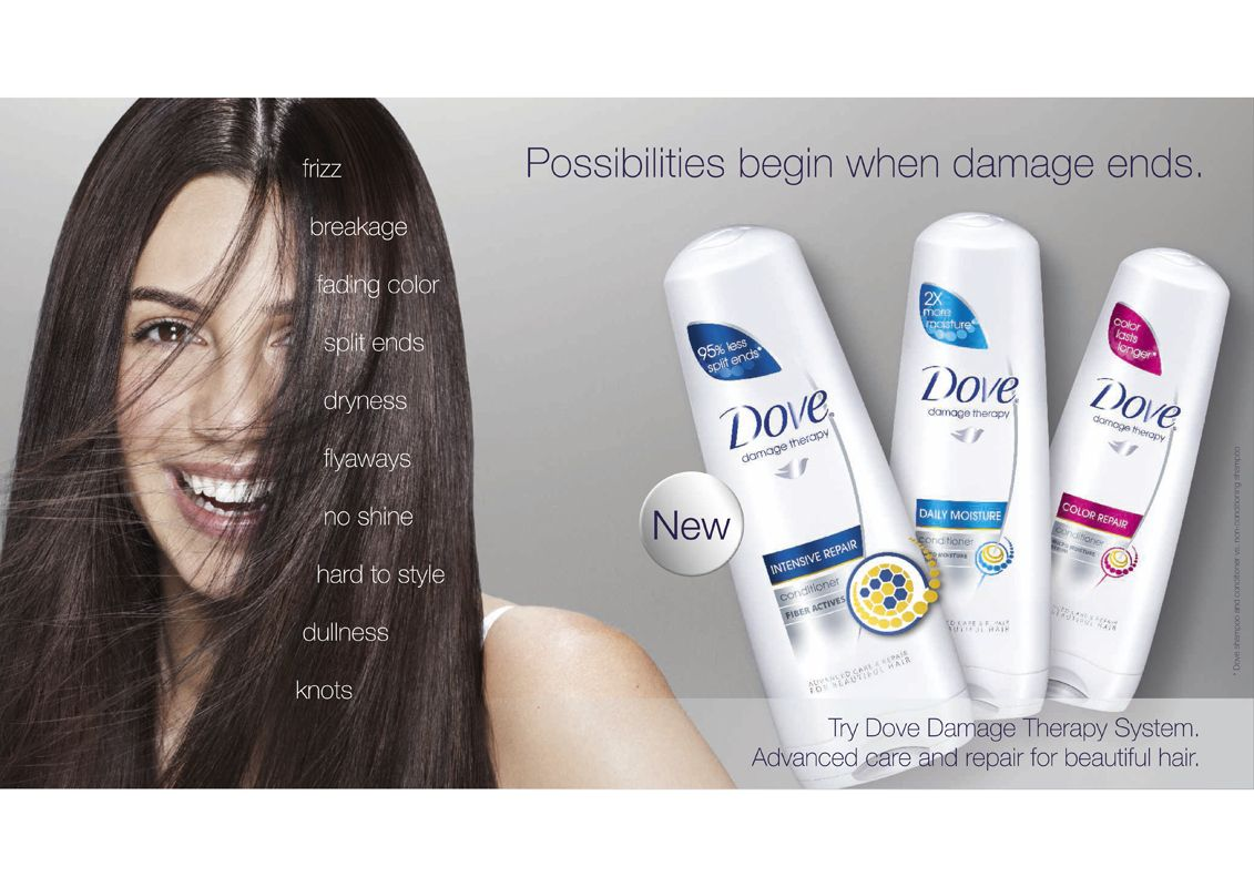 Dove Hair Advertising Beauty Hair Advertising Fade Color Advertising