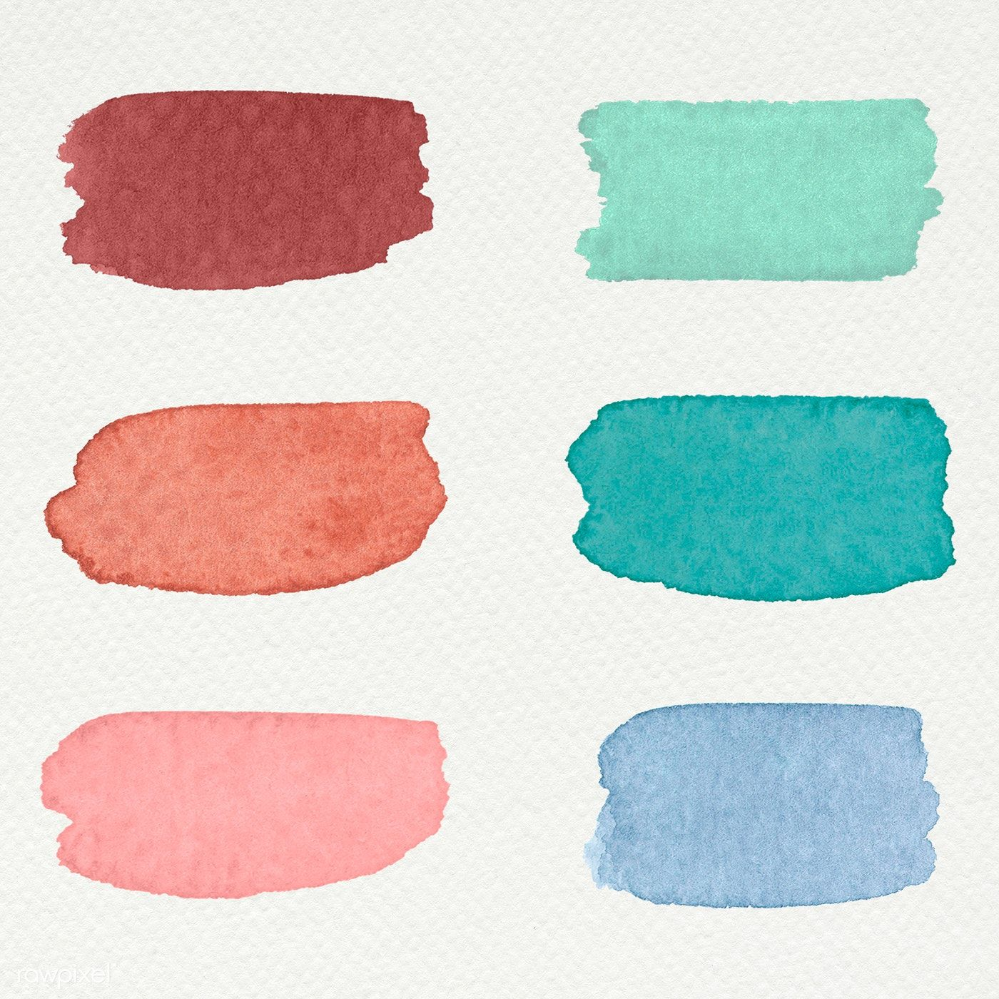 Colorful Watercolor Brush Strokes Illustration Free Image By