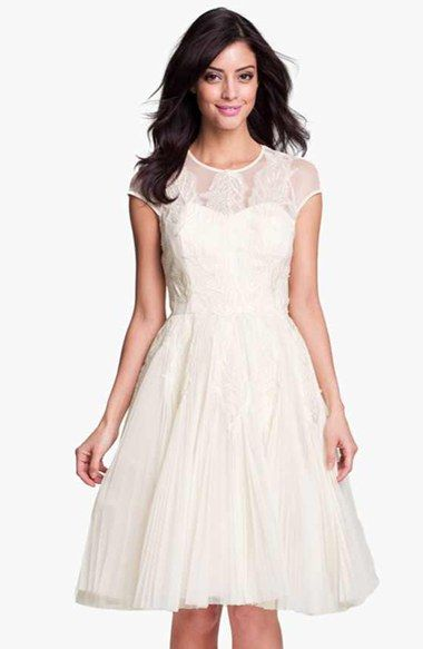 Vintage Inspired Wedding Dress | Fit flare dress, Ted and Nordstrom