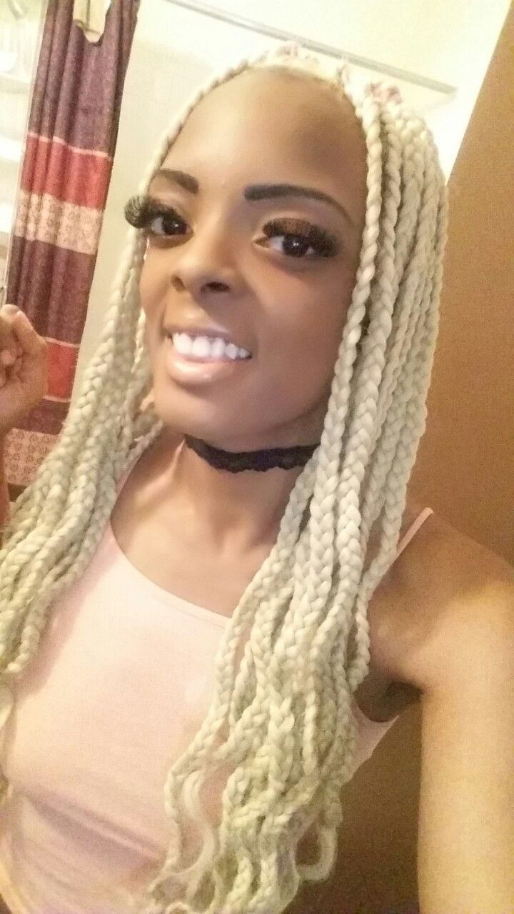 Platinum Box Braids П��👀💋 Braided Hairstyles Box Braid