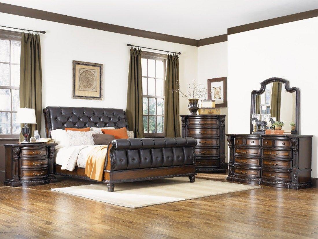 Fairmont Designs Grand Estates 4pc Eastern King Sleigh Bedroom Set