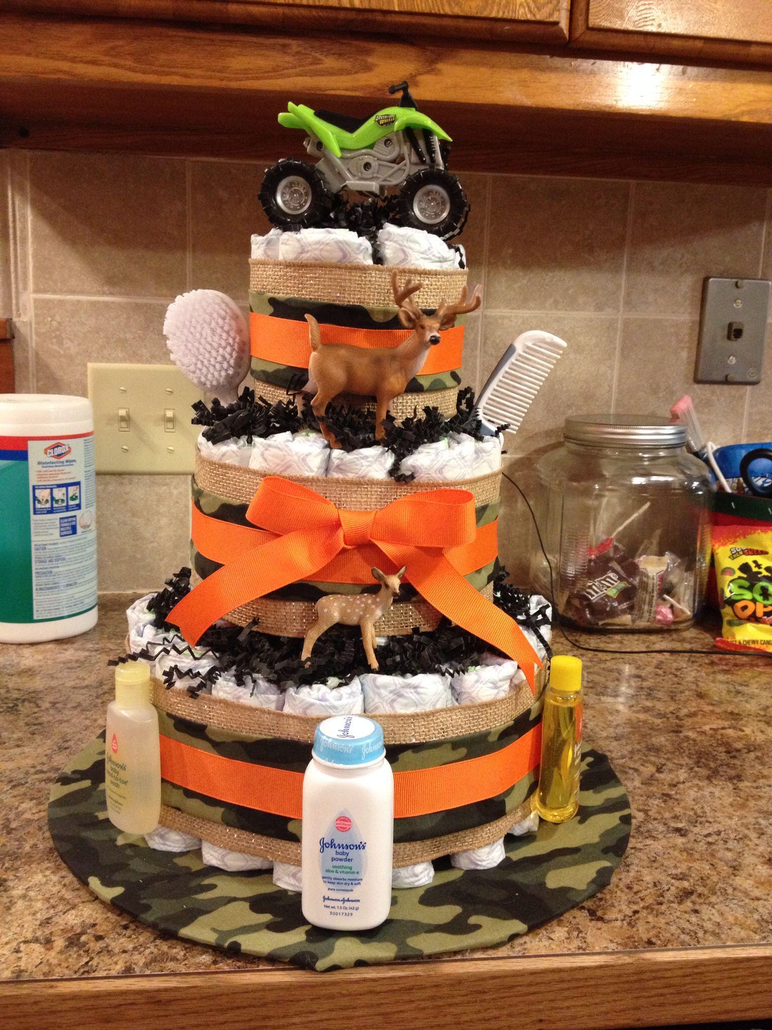 Camo Diaper Cake Baby Shower Camo Baby Shower Diaper Cake