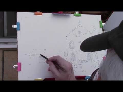 Watercoloring beginners pen and wash - YouTube | Water color ...