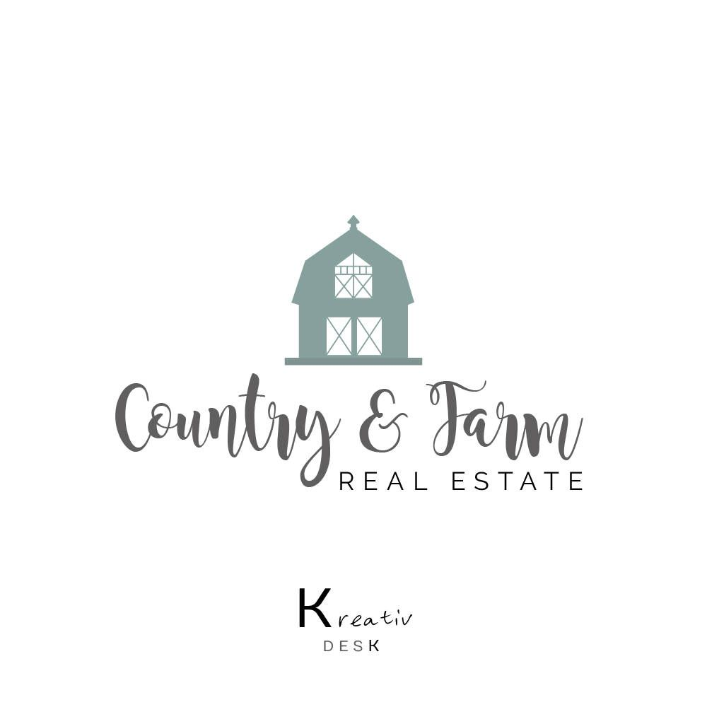 Farm Logo Design. Barn Logo Design. Handmade Barn Logo. Cottage Logo ...