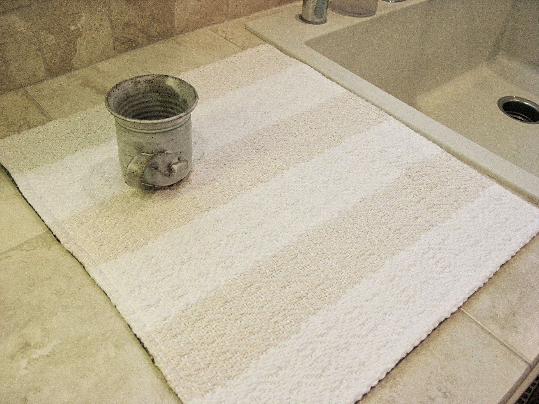Handwoven Dish Drying Mat Kitchen Sink Mat Dish Draining Etsy Hand Weaving Linen Yarn Dish Drying Mat