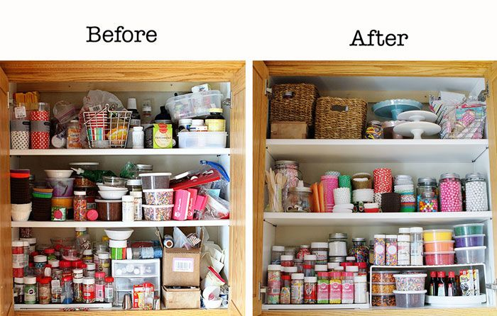 before after sprinkle cabinet organization i am baker baking blog on kitchen organization before and after id=75263
