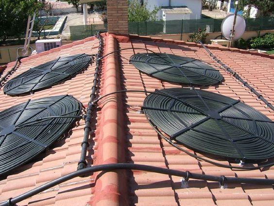 Eco calentador solar para piscinas casas pinterest for Calentador para piscina