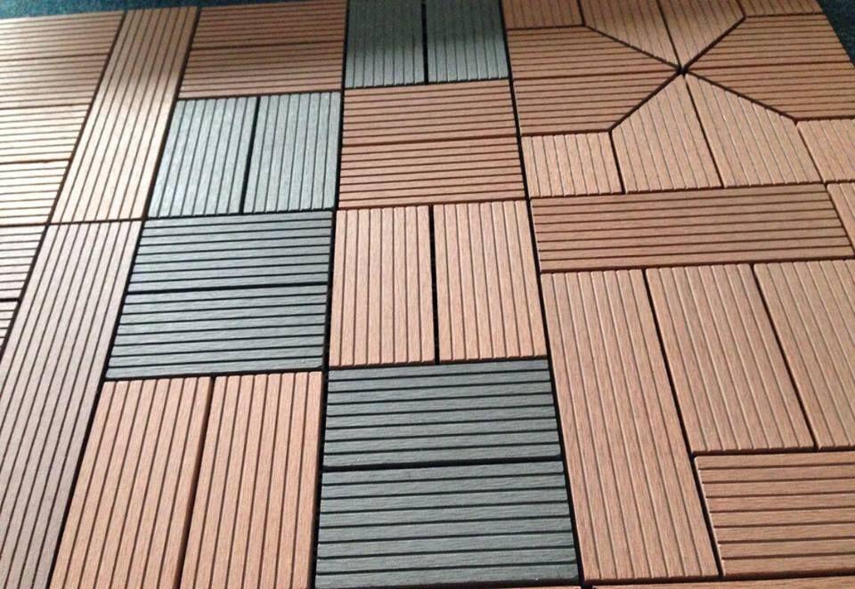 rich color wood plastic composite decking , high quality diy floor ...