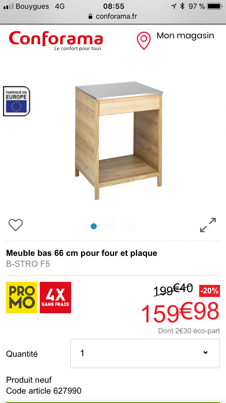 Epingle Par Laurent Bernard Sur Cuisine Perrette Meuble Bas Conforama Meuble