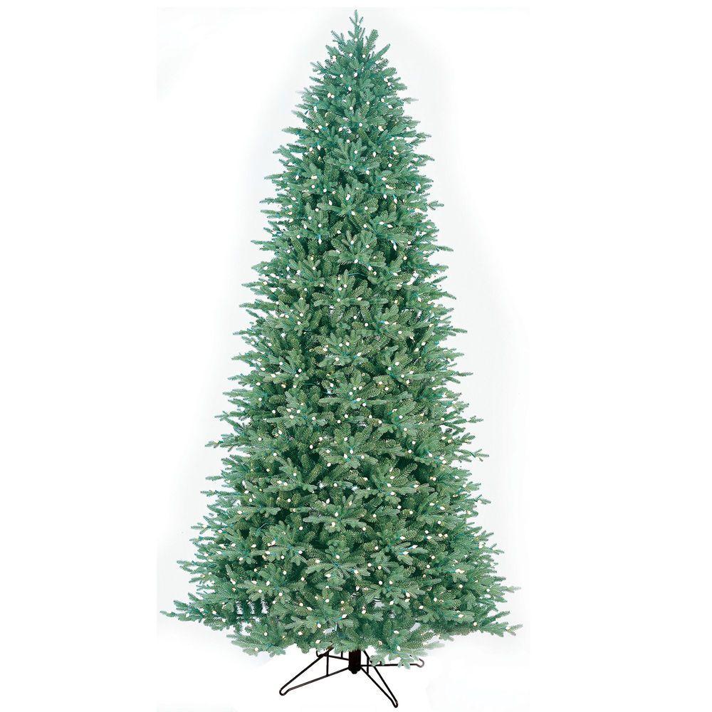 10.5\' Just Cut Aspen Fir Artificial Christmas Tree with 1100 Energy ...