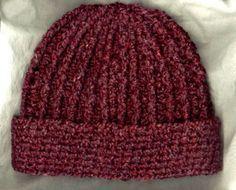 Crocheted Rib Hat Free Pattern Haken Gratis Patroon Engels
