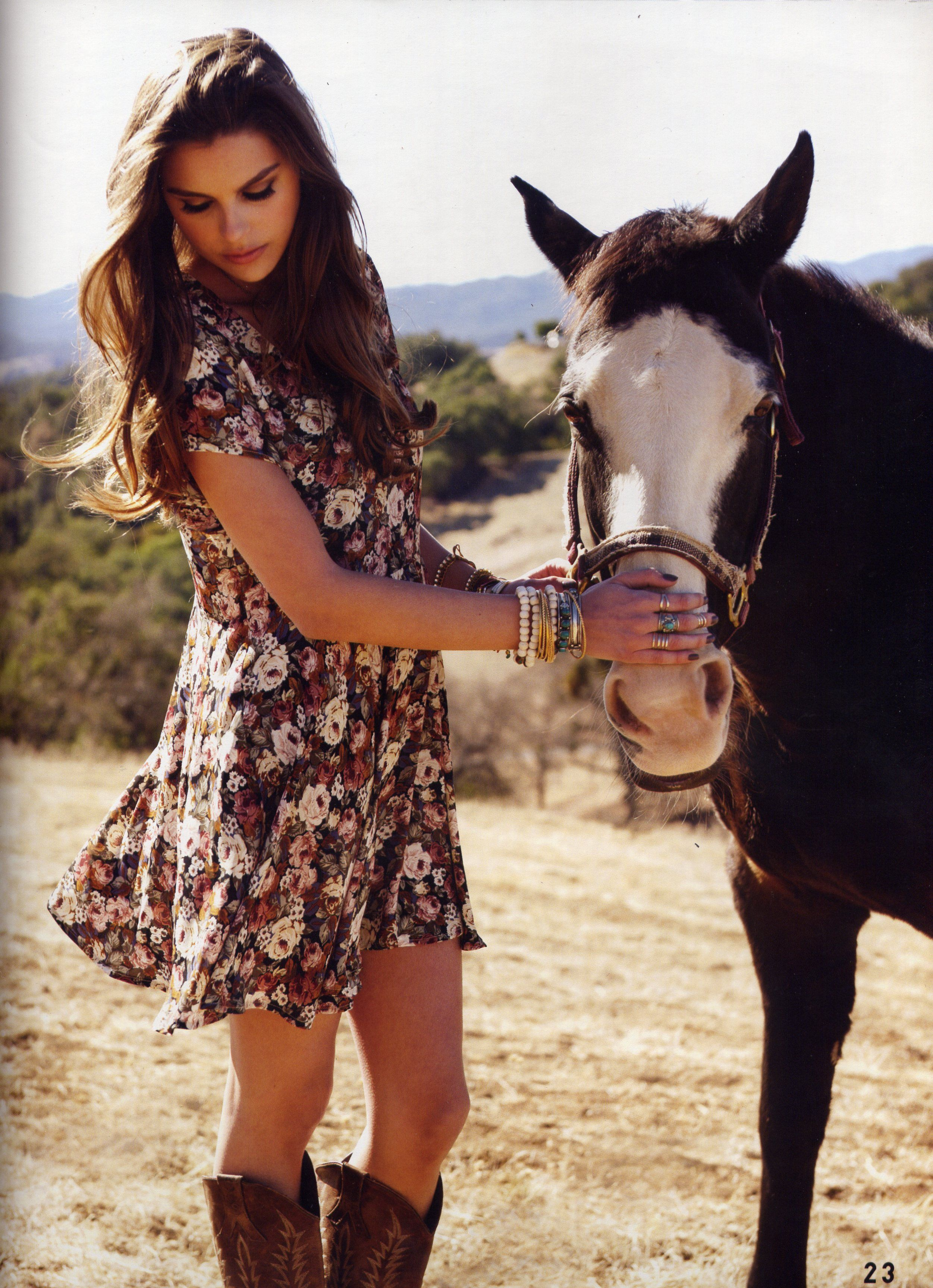 Our horse Sunny in a photo shoot on Lekai Ranch