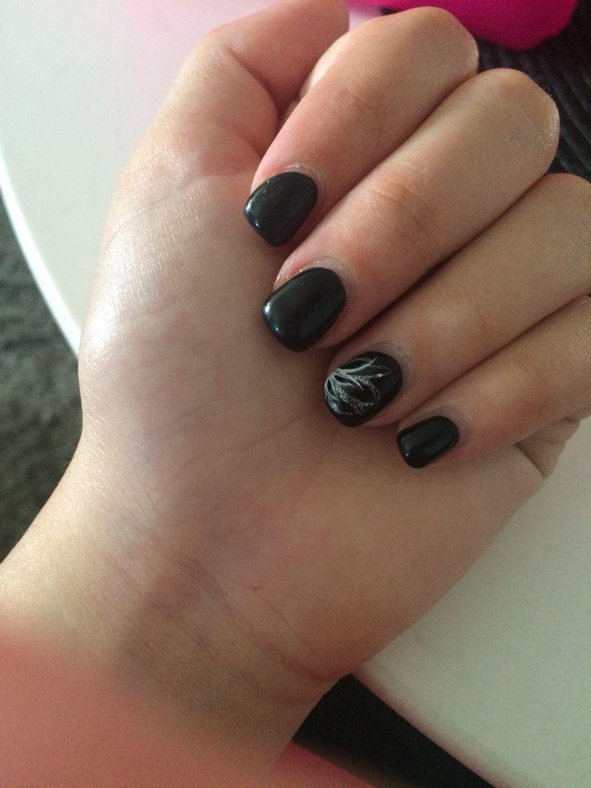 ongle noir en gel chablon extension ongle beaut motif fleur ongles pinterest ongles noirs. Black Bedroom Furniture Sets. Home Design Ideas