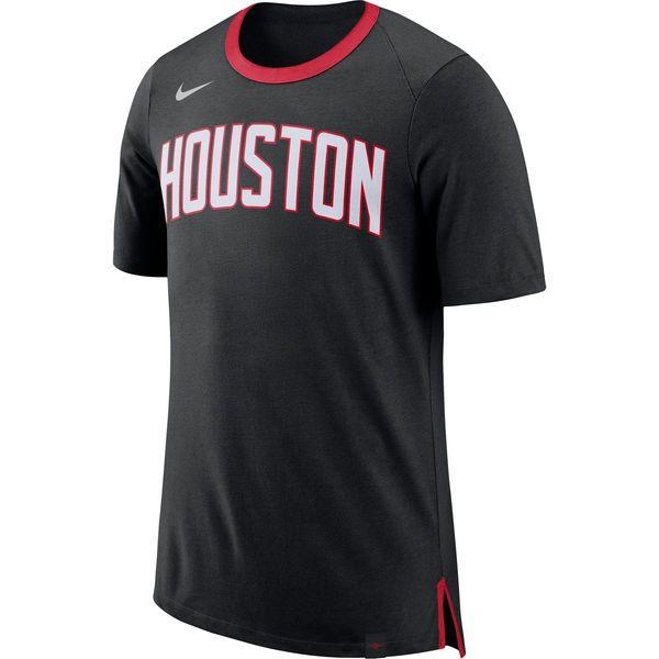 5d84b06531da Men s Houston Rockets Nike Black Basketball Fan T-Shirt