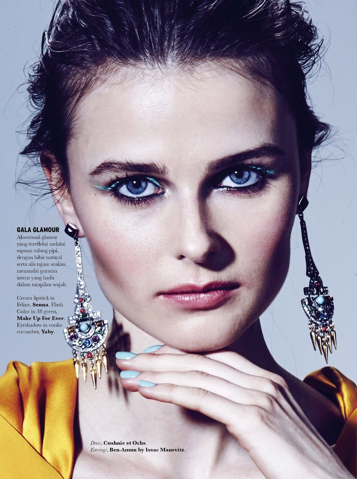 Vasilisa Pavlova by Enrico Brunetti for Elle Indonesia July 2015 beauty  editorial c07b8fe2fb