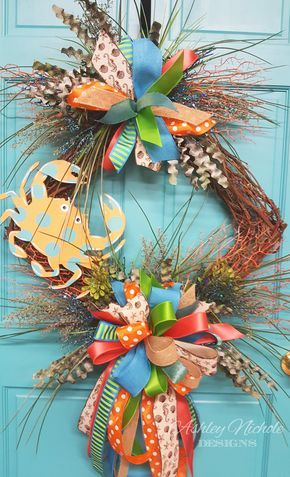 Crab Pot Square Wreath. Front Door ...