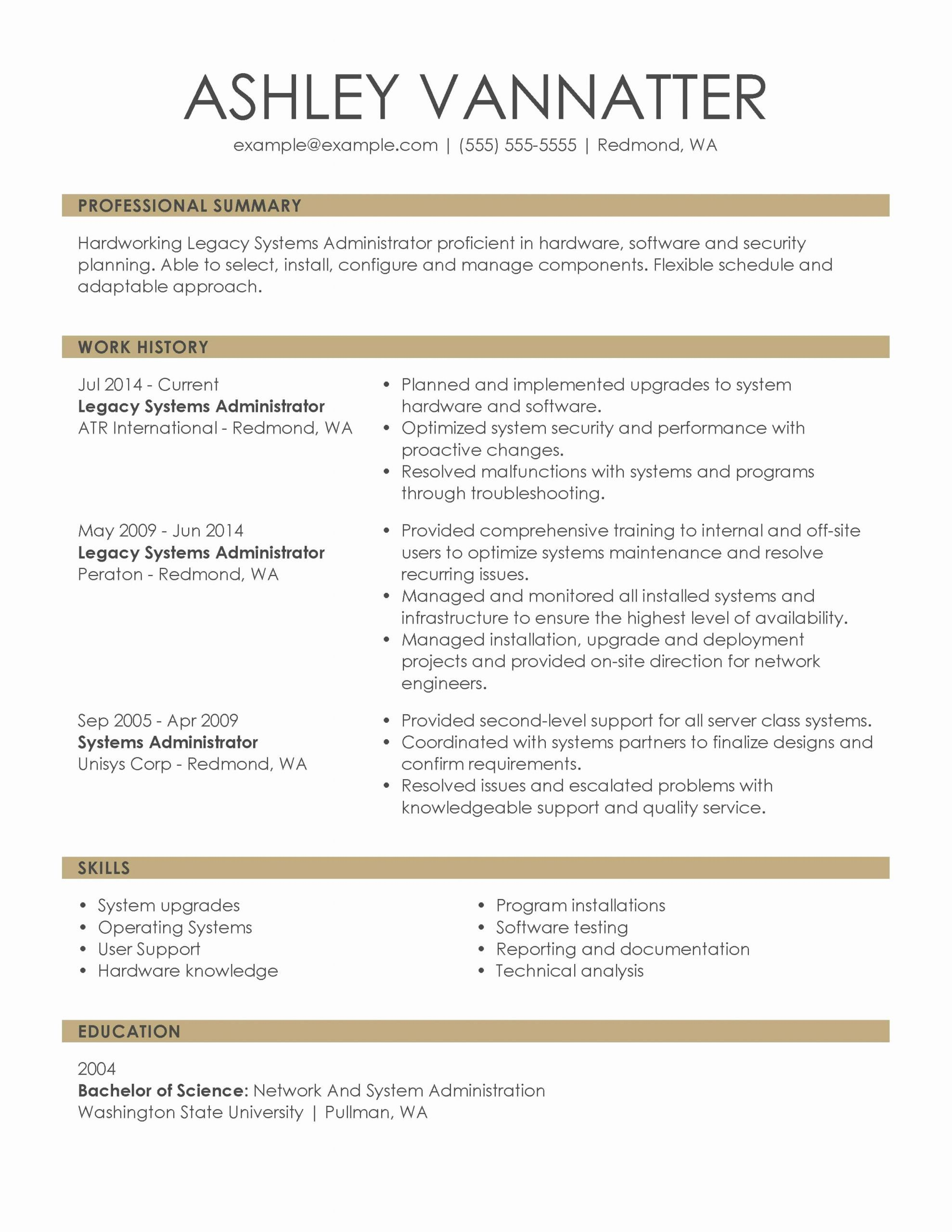 25 Describe the Components Of An Effective Resume in 2020