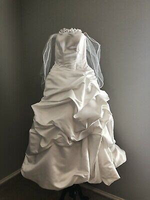 dineh's collection white wedding dress gown strapless