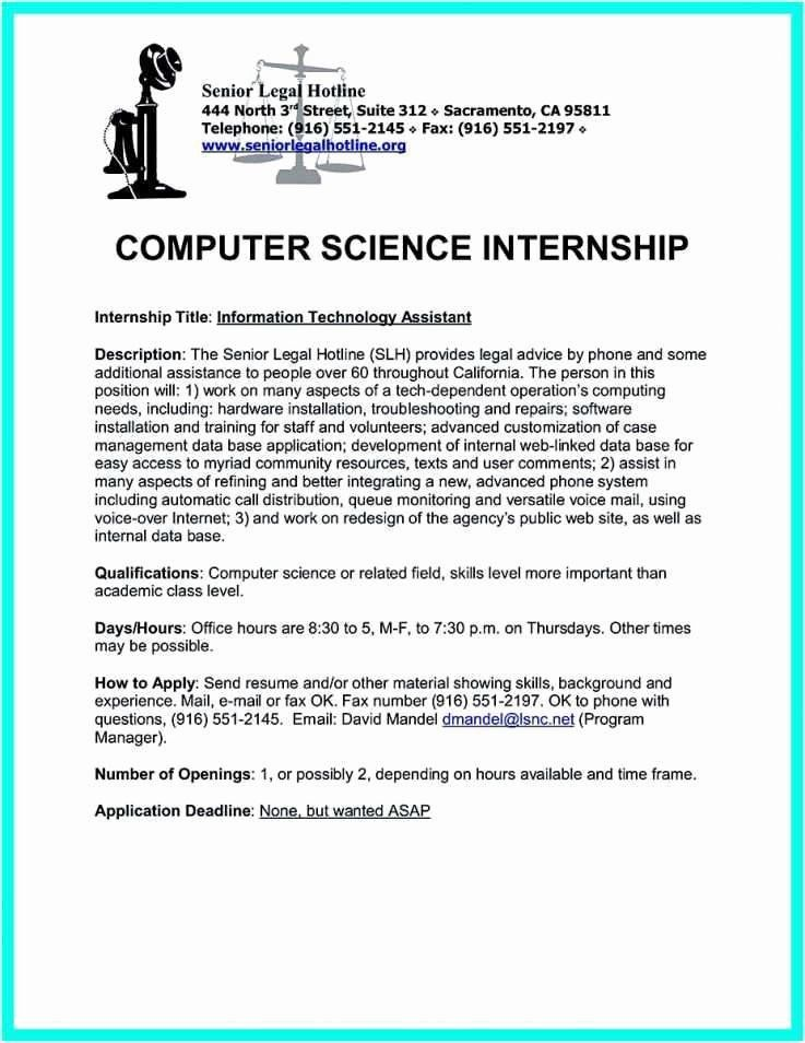 25 computer science internship resume in 2020 science