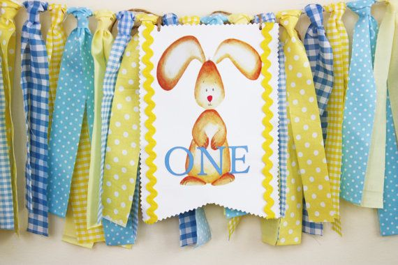 Bunny Highchair Banner Easter Bunny Banner 1st by MyLittleBoobug