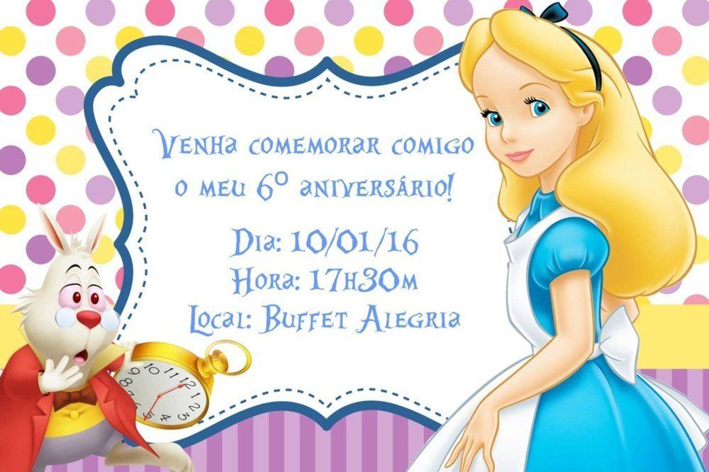 Convite Digital Personalizado Alice No Pais Das Maravilhas 006