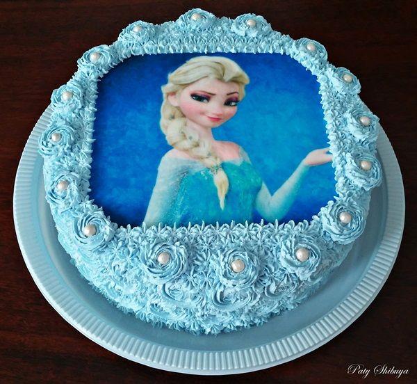 Bolo Tranca Da Elsa Frozen Cake3 Jpg 600 552 Bolo Elsa Ideias