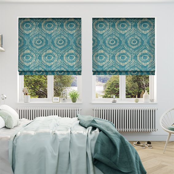 Bocca Teal Roman Blind From Blinds 2go Roman Blinds