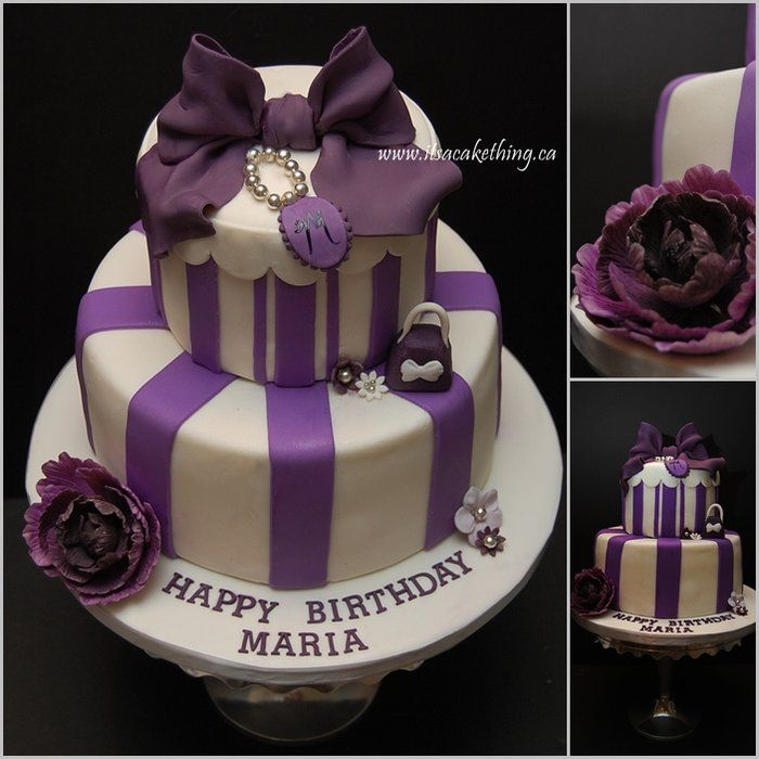 Heres a cake I had a lot of fun making I love the purple colour