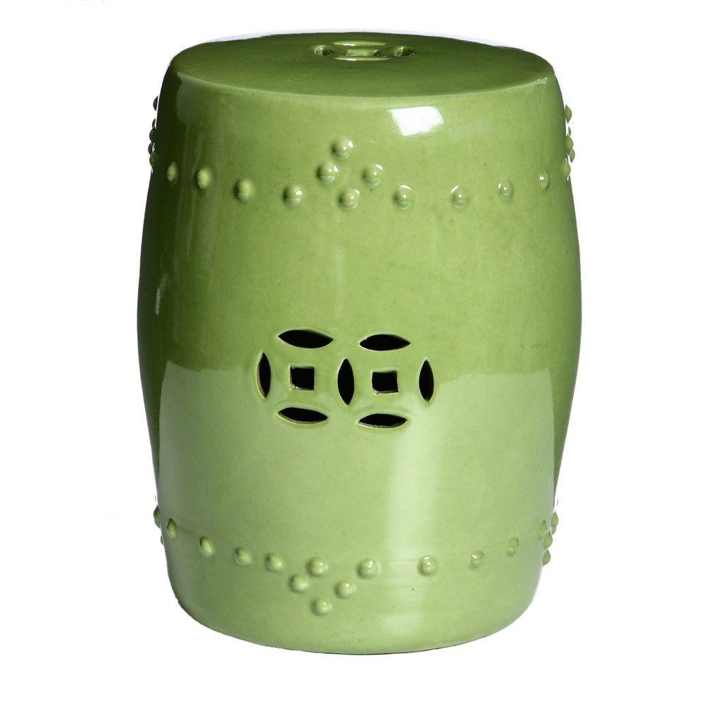 Marvelous Handmade Porcelain Moss Green Garden Stool China Pabps2019 Chair Design Images Pabps2019Com