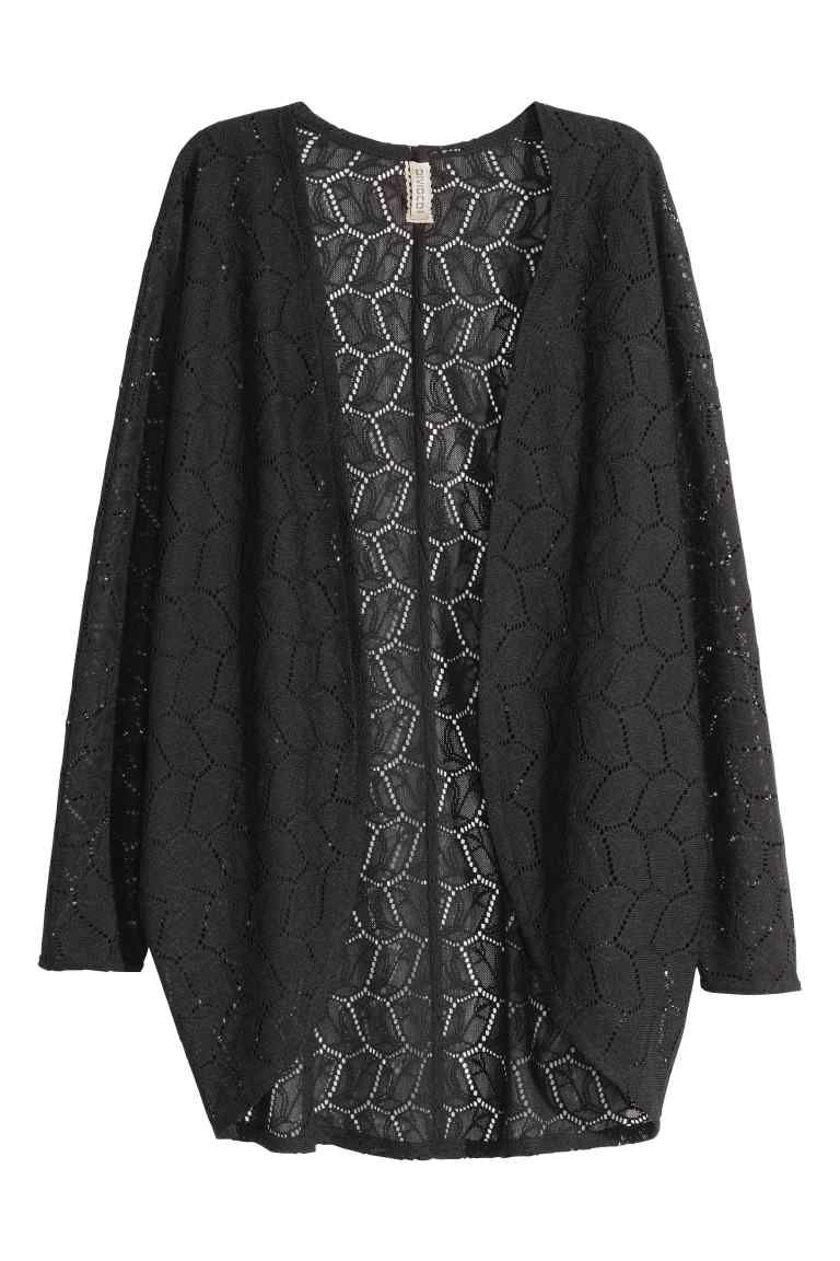 Lace cardigan | Black lady, Kimonos and Clothes