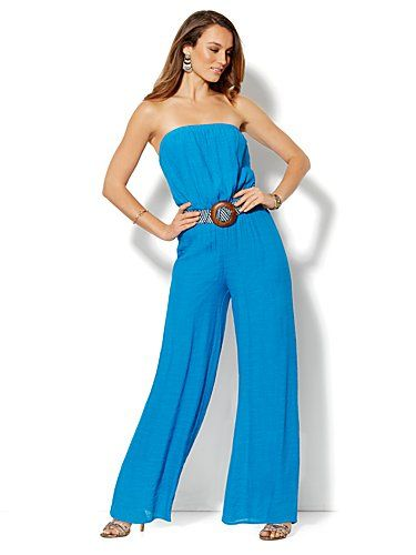 Shop Strapless Gauze Jumpsuit . Find your perfect size online at the best price at New York & Company.