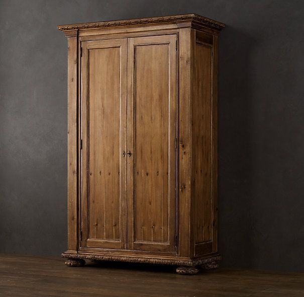 Delicieux French Empire Armoire Antiqued Natural   Restoration Hardware
