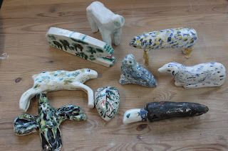 ceramic animals by Rose de Borman