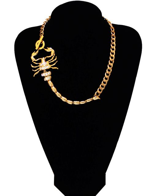 Scorpion pendants necklace for women high quality stainless steel scorpion pendants necklace for women high quality stainless steel 18k gold plated exaggerated european mozeypictures Images