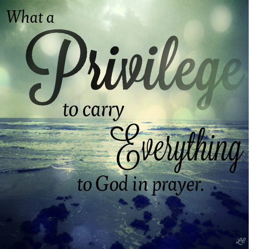 Image result for What a privilege it is to carry, everything to God In prayer