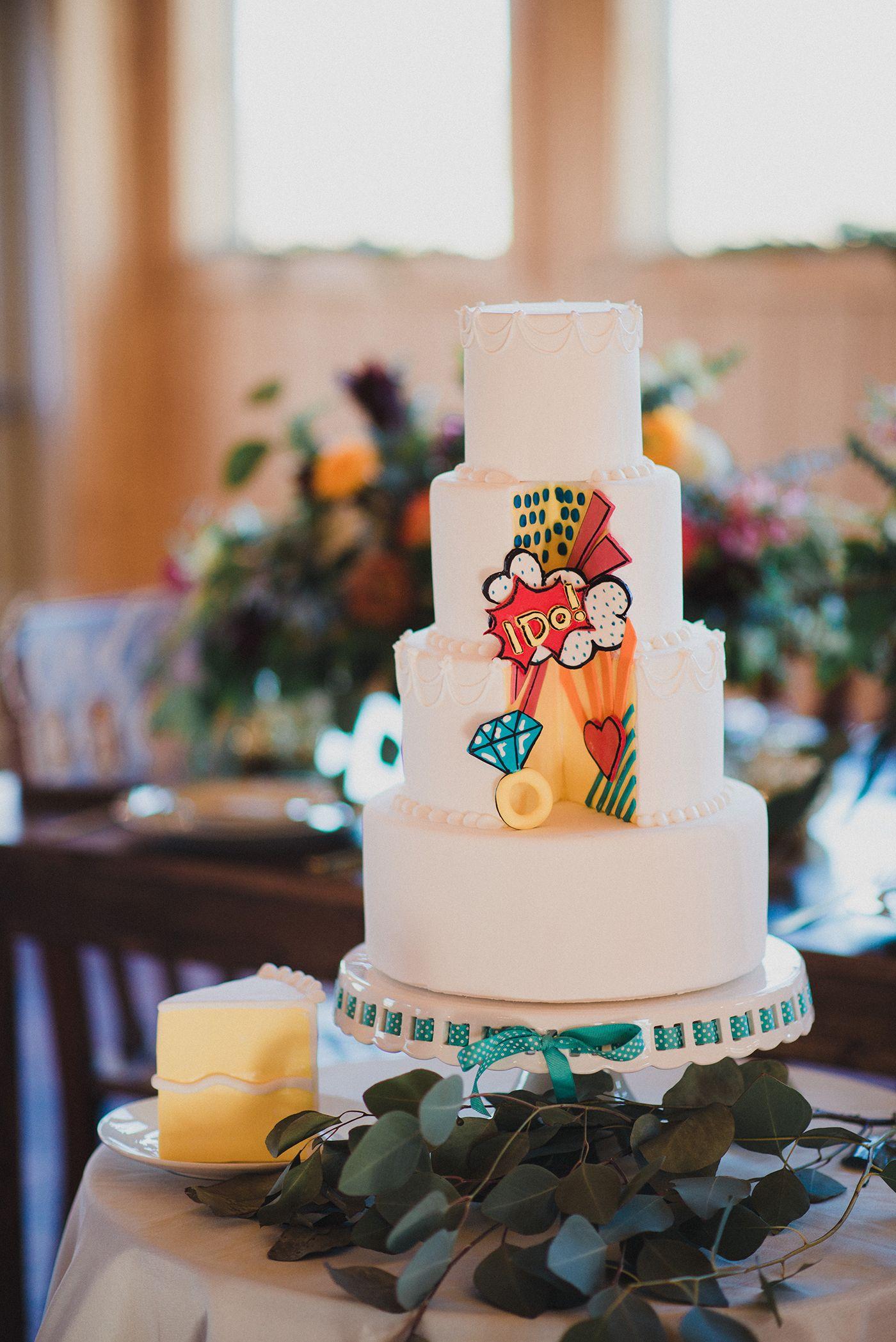 Pop Art Wedding Cake By Bijous Sweet Treats