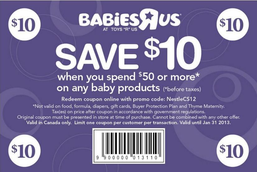 graphic about Toy R Us Coupon Printable titled Infants R Us: $10 off $50 Printable Coupon discount coupons Totally free