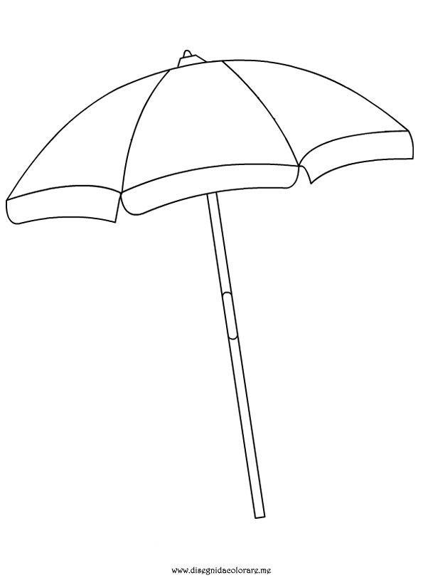 beach umbrella coloring page Summer Pinterest Hand