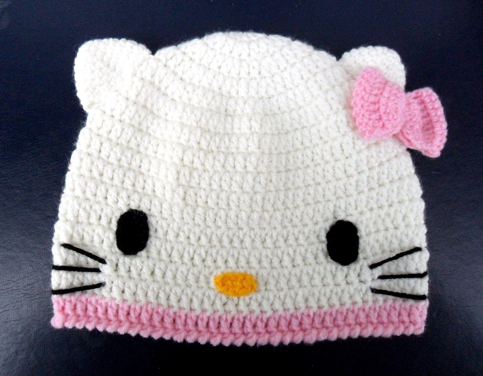 Dorable Libre De Hello Kitty Patrón De Crochet Sombrero Patrón ...