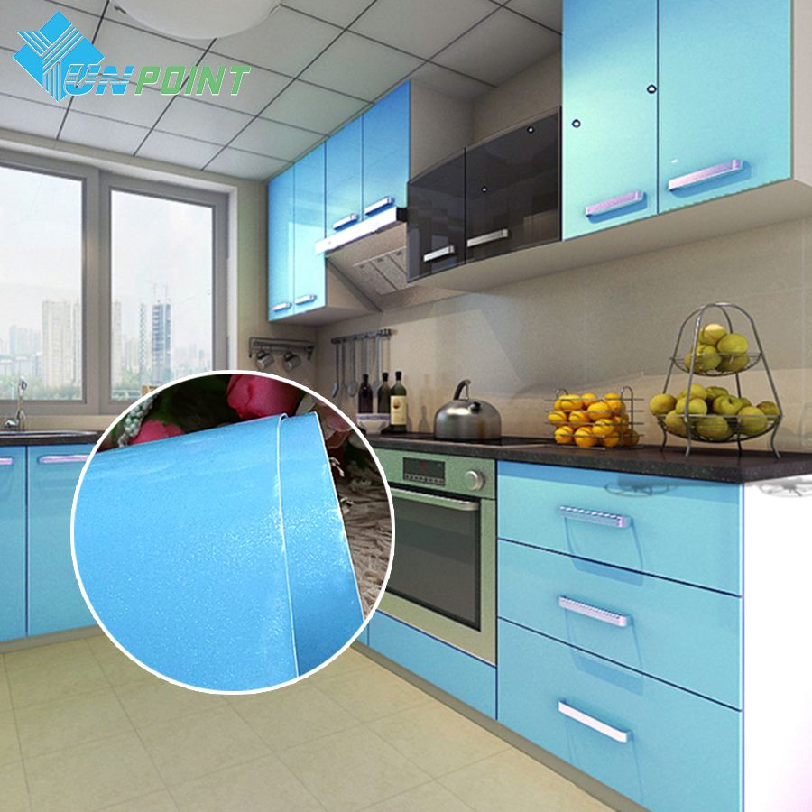 European Self adhensive Wallpaper Paint Flash PVC Wall paper Kitchen ...
