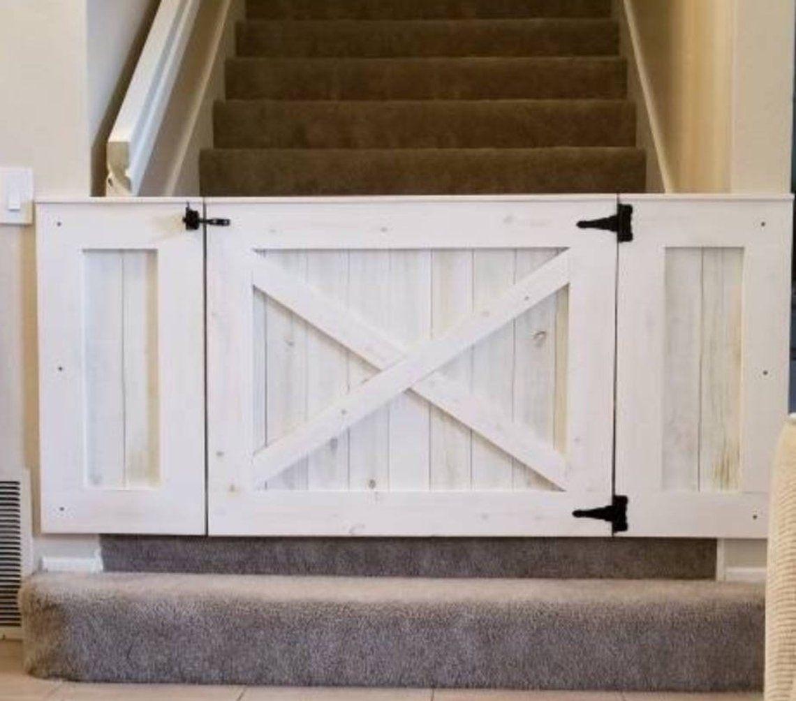 Rustic Dog Baby Gate Barn Door Style W Side Panels Barn Door