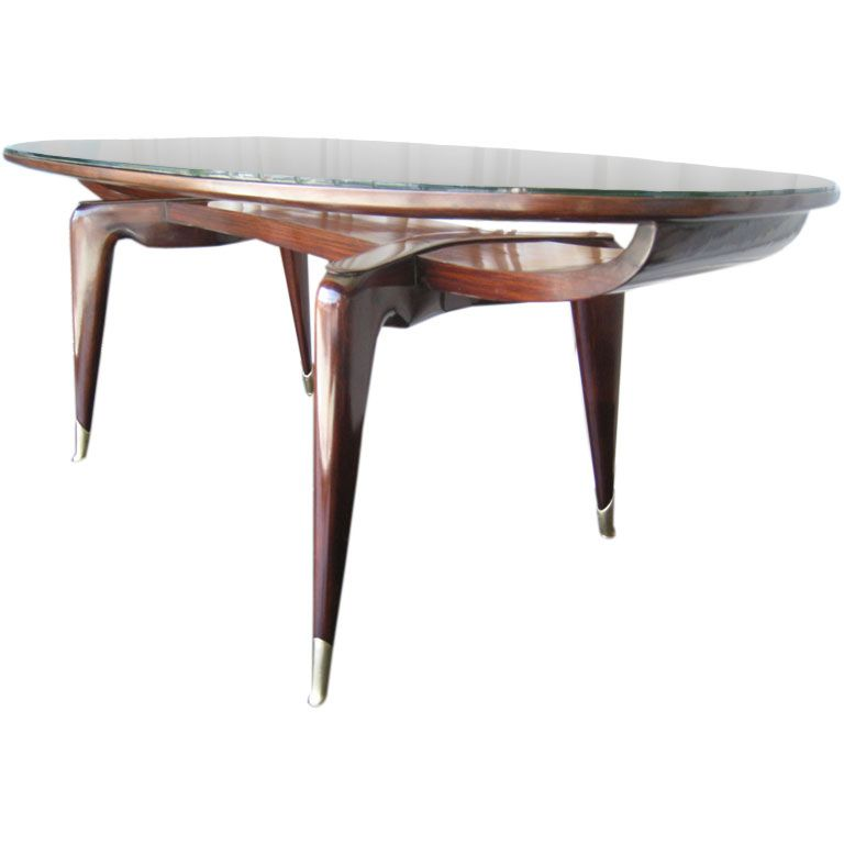 Downtown Gallery: Italian walnut table attributed to Ico Parisi Table  via AJdesignLA