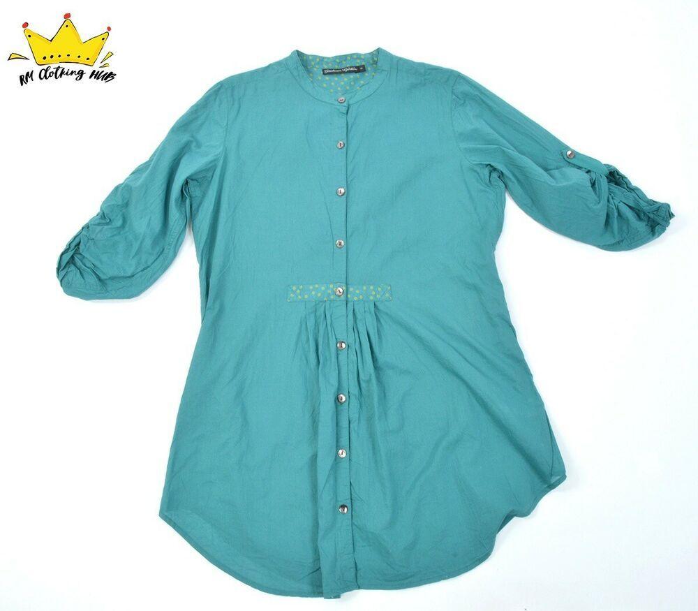 foto de 6635 GUDRUN SJODEN 3/4 Ruched Sleeve Buttoned Summer