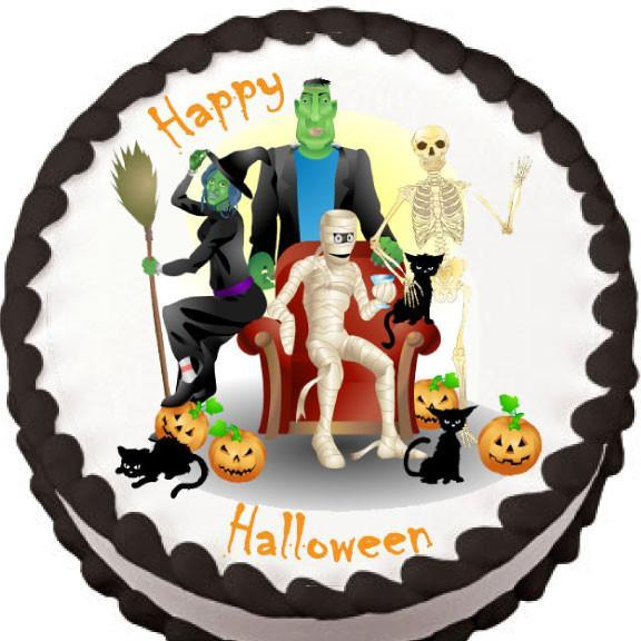 Halloween Ghouls Edible Cake, Cupcake  Cookie Topper Products