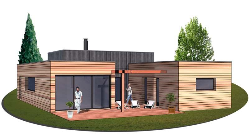 Modele maison ossature bois plain pied ps61 jornalagora for Constructeur maison gironde avec tarif