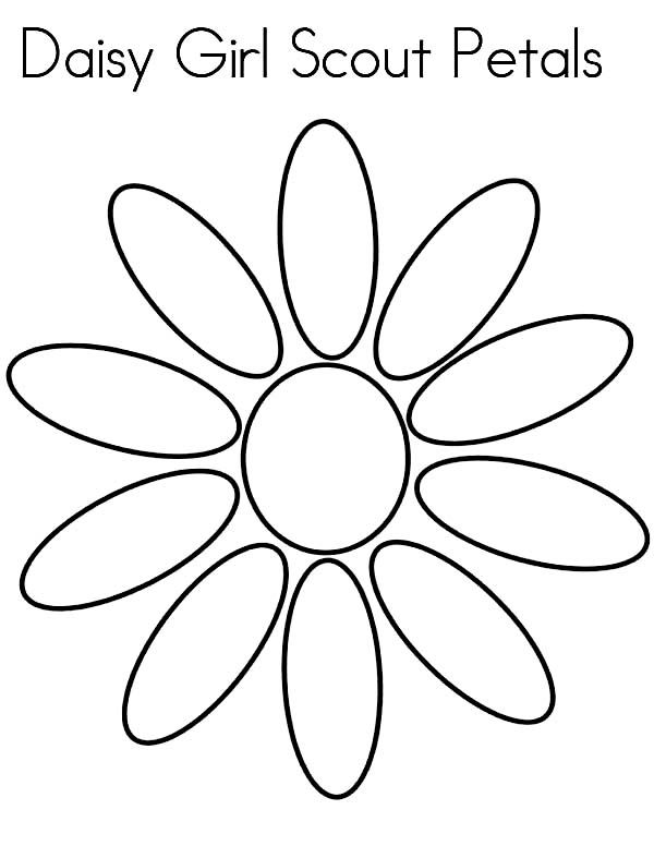 Daisy flower daisy flower daisy girl scout petals coloring page
