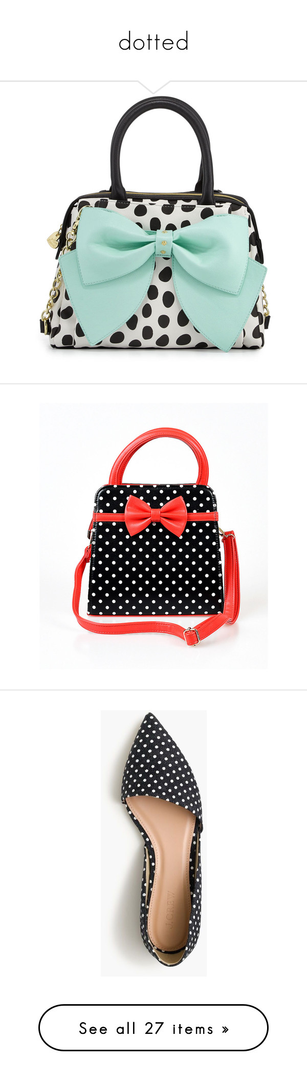 """dotted"" by bluemoon ❤ liked on Polyvore featuring bags, handbags, blue, yellow, man bag, purse satchel, polka dot handbags, handbag purse, blue handbags and purses"