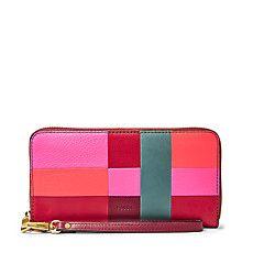 Fossil Emma Patchwork RFID Zip Around Wallet - Handbags & Accessories -  Macy's